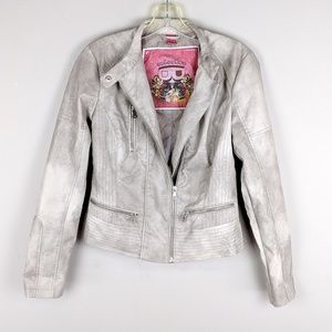 Bernardo Collection | Light Wash Motor Jacket -E77